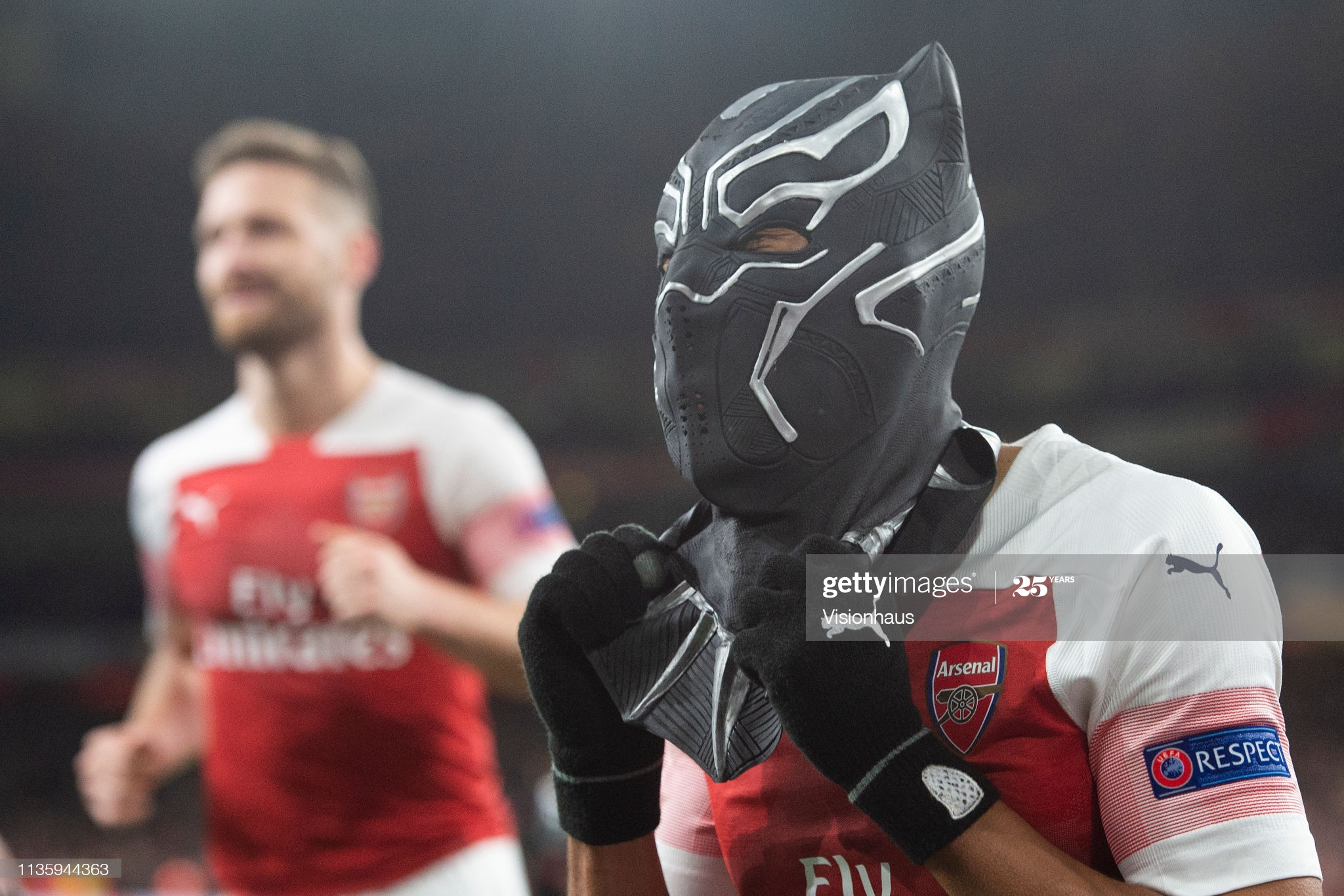 Arsenal striker, Aubameyang leads tribute to Black Panther Chadwick Boseman