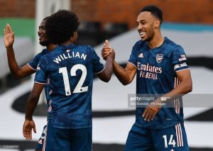 Auba gets on scoresheet, thanks to Willian